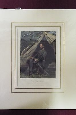 Hand Colored Engraving - Stonewall Jackson -  Original