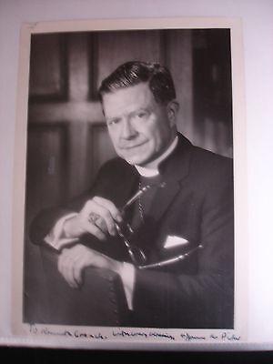 James A. Pike 20th Century Signed Photo - Bible