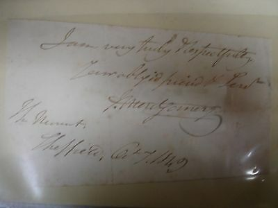 James Montgomery 1849 Cut Signature - Bible