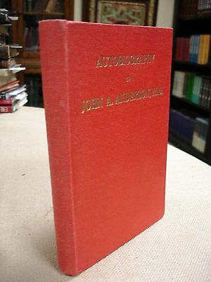 John A. Anderson Autobiography signed by John Anderson - 1948