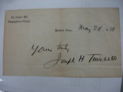 Joseph H. Twichell 1888 Signature - Bible