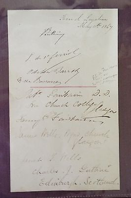 Multiple Autographs on one Sheet - Patrick Fairbarn, James Wells etc.