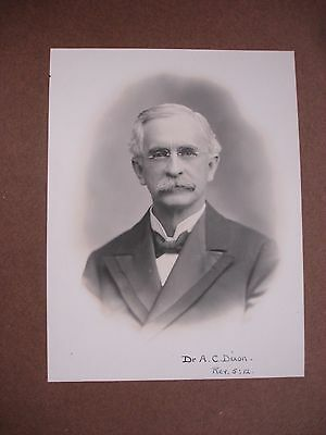 Photo of Dr. A.C. Dixon - Inscribed by wife