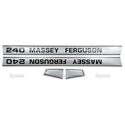 Massey-Ferguson MF 240 MF240 Tractor Basic Hood Decal Set