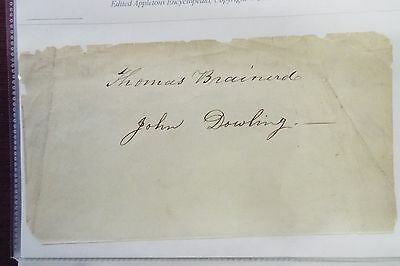 Thomas Brainerd and John Dowling Undated Signatures