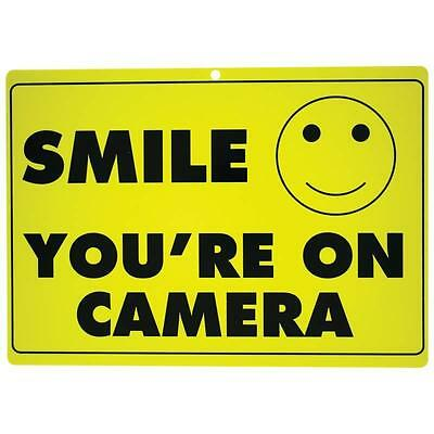 2 (TWO) Smile Your on Camera Surveillance Sign- CCTV Camera, Security Warning