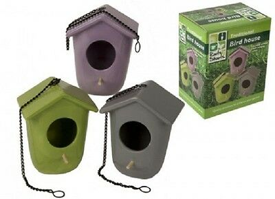 Wholesale-Resellers-12 X MED EGG SHAPE TRADITIONAL BIRD  HOUSE W/CHAIN