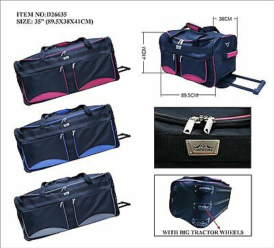 "20 28 32  35 ""  Travel Luggage Wheeled Trolley Holdall Suitcase Case Duffle Bag"