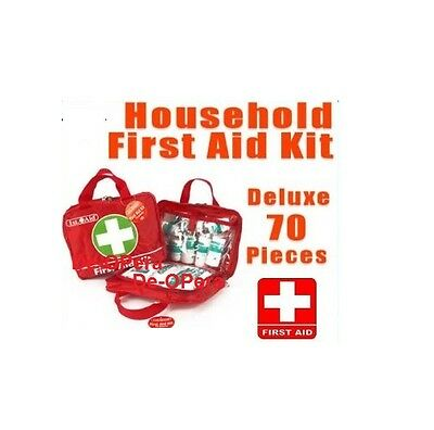 70Pc First Aid Kit Emergency Safety Travel Home Office Bike Car Work Sports New