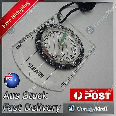 Mini Pocket Compass Baseplate Outdoor Hiking Camping Climbing Orienteering Army