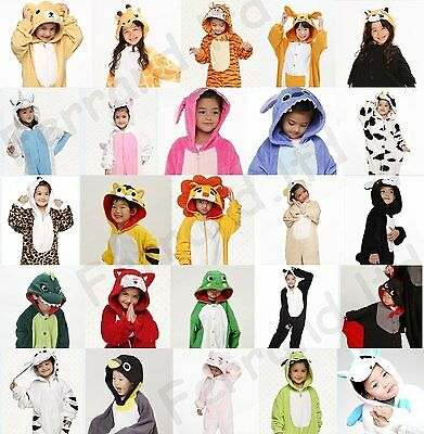 Fancy Boys Girls Unisex  Kigurumi Pajamas Animal Onesie Dress Cosplay Costume
