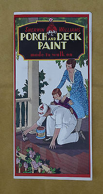 Vintage Sherwin Williams Porch And Deck Paint Advertising Brochure Booklet
