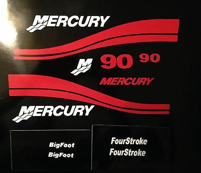 Mercury Outboard  25 - 250 HP Big foot Four stroke  Mercury outboard Decals