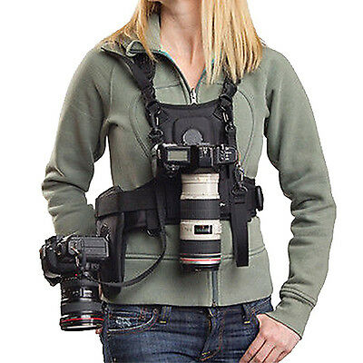 Micnova Multi Carry Photographer Vest Chest Harness System for Canon Nikon DSLR