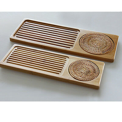 Bamboo Gongfu Tea Tray Chinese Serving Table 2 Size Drinks Quality Wholesale