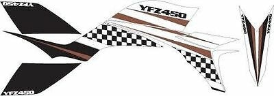Kit Déco Quad / ATV Yamaha YFZ 450 - Race Blanc