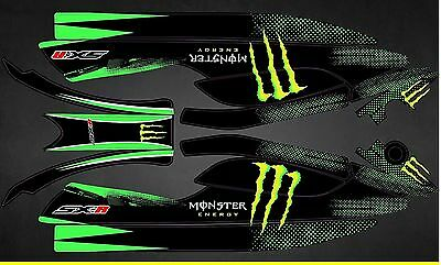 Kit Déco Jet Ski Kawasaki 800 Sxr - Monster