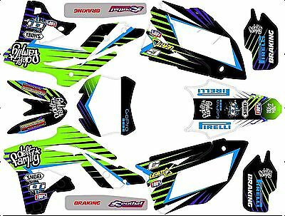 Kit Déco Moto pour / Mx Decal Kit For Kawasaki Kxf - Deft Family