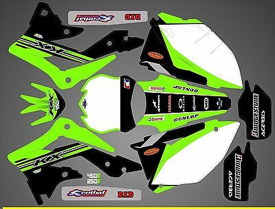 Kit Déco Moto pour / Mx Decal Kit For Kawasaki Kxf - Replica 2015