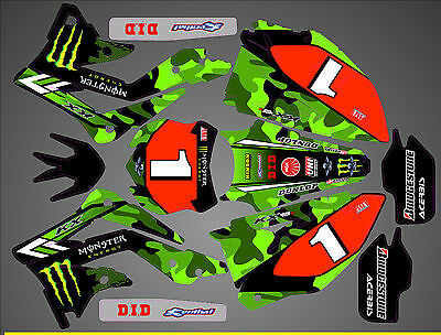 Kit Déco Moto pour / Mx Decal Kit For Kawasaki Kxf - Villopoto Replica 2015