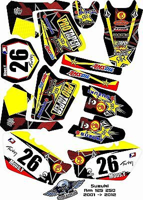 Kit Déco Moto pour / Mx Decal Kit For Suzuki Rm - Protaper