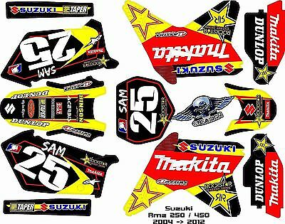 Kit Déco Moto pour / Mx Decal Kit For Suzuki Rmz - Makita