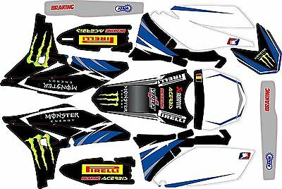 Kit Déco Moto pour / Mx Decal Kit For Yamaha YZF - Monster