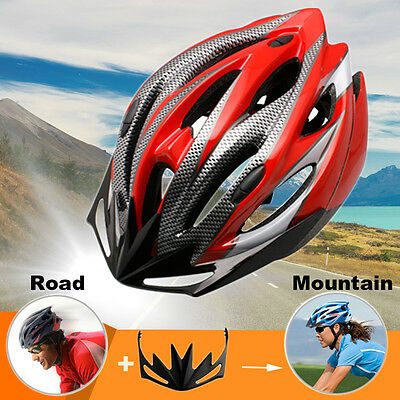 Local Stock Men Adult Bike Bicycle Safety Helmet Road&MTB Cycling Visor red 08