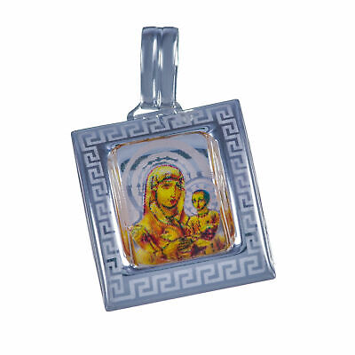 Virgin Mary of Jerusalem Madonna christian blessed pendant, sterling silver 925