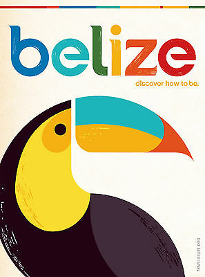 0045 Vintage Travel Poster Art - Belize