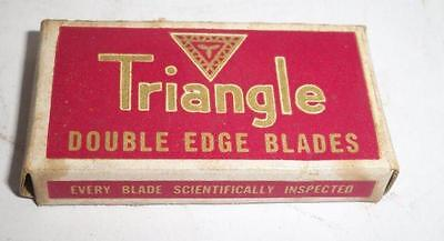 5 vintage Triangle Mechanical Laborites Brooklyn double edge safety Razor Blade
