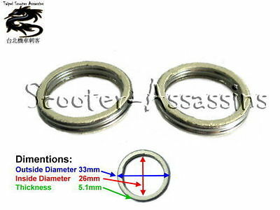 2x EXHAUST GASKET for CPi Oliver 50,Popcorn 50,Freaky