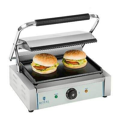 Panini Machine Contact Grill Toaster Sandwich Maker Flat / Ribbed 2200 W New