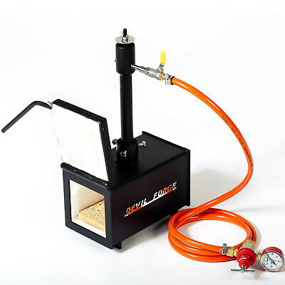DFPROF1+1D GAS PROPANE FORGE Furnace Burner Knife Making Blacksmith Farrier