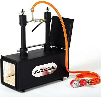 DFPROF2+1D GAS PROPANE FORGE Furnace Burner Knife Making Blacksmith Farrier