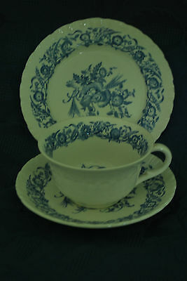 Wedgwood Cornflower of Etruria Trio - Blue and White Cup/Saucer/Tea Plate  #142