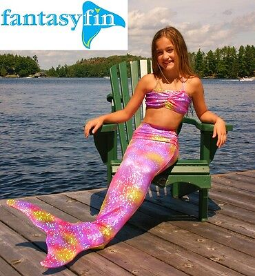 #1 Holiday Gift! Fantasy Fin Safest Swimmable Mermaid Tail & Fin, Ambrosia