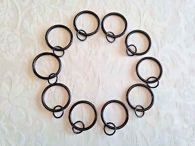 (CR1) 10 X Double Curtain Rings. 40mm Outside x 34mm Inside ID. Over 100000 Sold