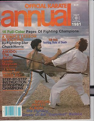Official Karate Annual 1981 Magazine-Vintage Official Karate