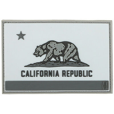 PVC Morale Patch - MAXPEDITION - CALIFORNIA Flag - 3 x 2 - SWAT colors