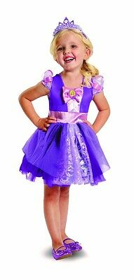 NWT Disney Princess Rapunzel Tangled Dress Costume Toddler M 3T-4T Official