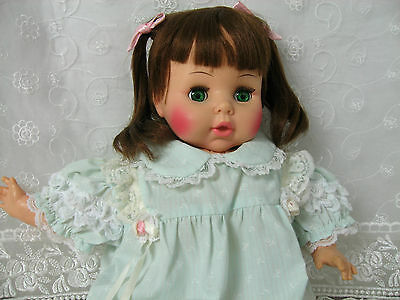 "Horsman Vintage 20"" Doll Soft Body Rooted Hair Sleep Eyes Non Working Crier"