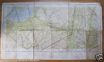 WORLD WAR II ACTIVE AIR DEFENSE ZONE MAP 1943 ALBANY NY NEW YORK Restricted Air