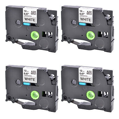 "4PK Compatible for Brother P-TOUCH TZ-231 TZe-231 1/2"" LABEL-TAPE BLACK on WHITE"