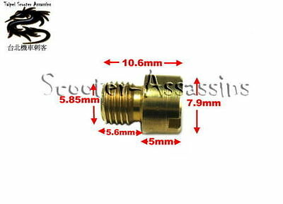 6mm MAIN JET for Chinese 2 Stroke Minarelli SIZE #72
