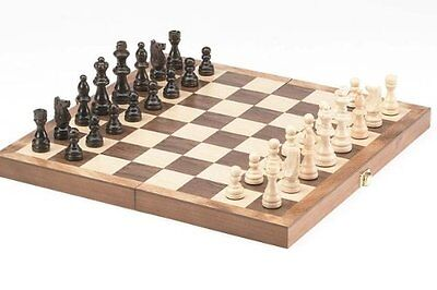 "15"" Standard Classic Wooden Chess Set Board Game Foldable board"