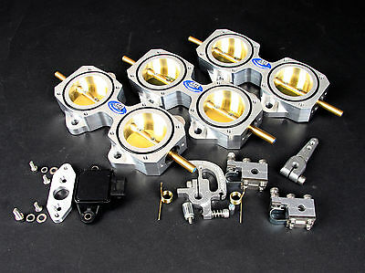 6 Cylinder DCOE 45mm Throttle Body Kit inc TPS - For Performance and Racing