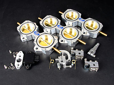 6 Cylinder DCOE 50mm Throttle Body Kit inc TPS - For Performance and Racing