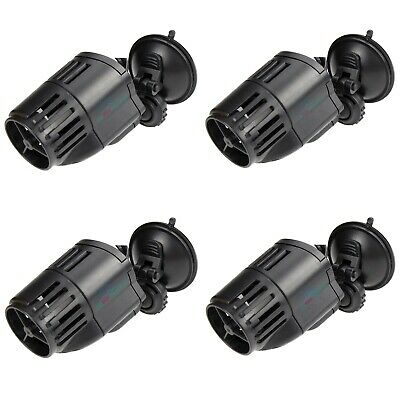 4 PCS Circulation Wave Maker Pump 800 GPH Aquarium Powerhead Suction Cup Mount