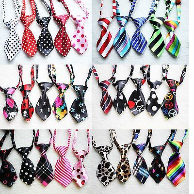 Wholesale Floral Polyester Pet Dog Necktie Adjustable Bow Tie Summer Out Lot